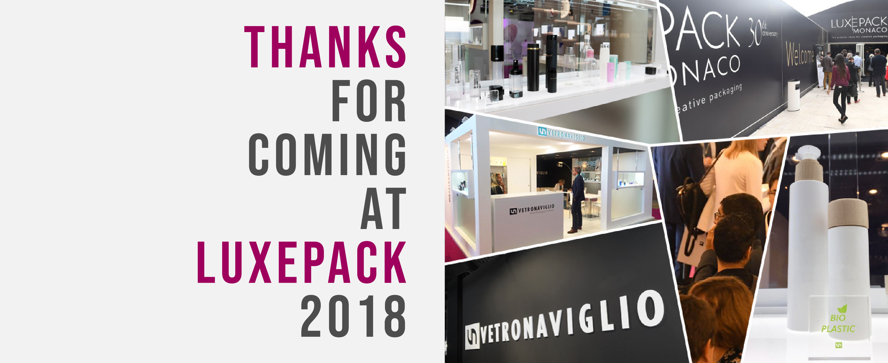 thank you for coming at luxepack 2018
