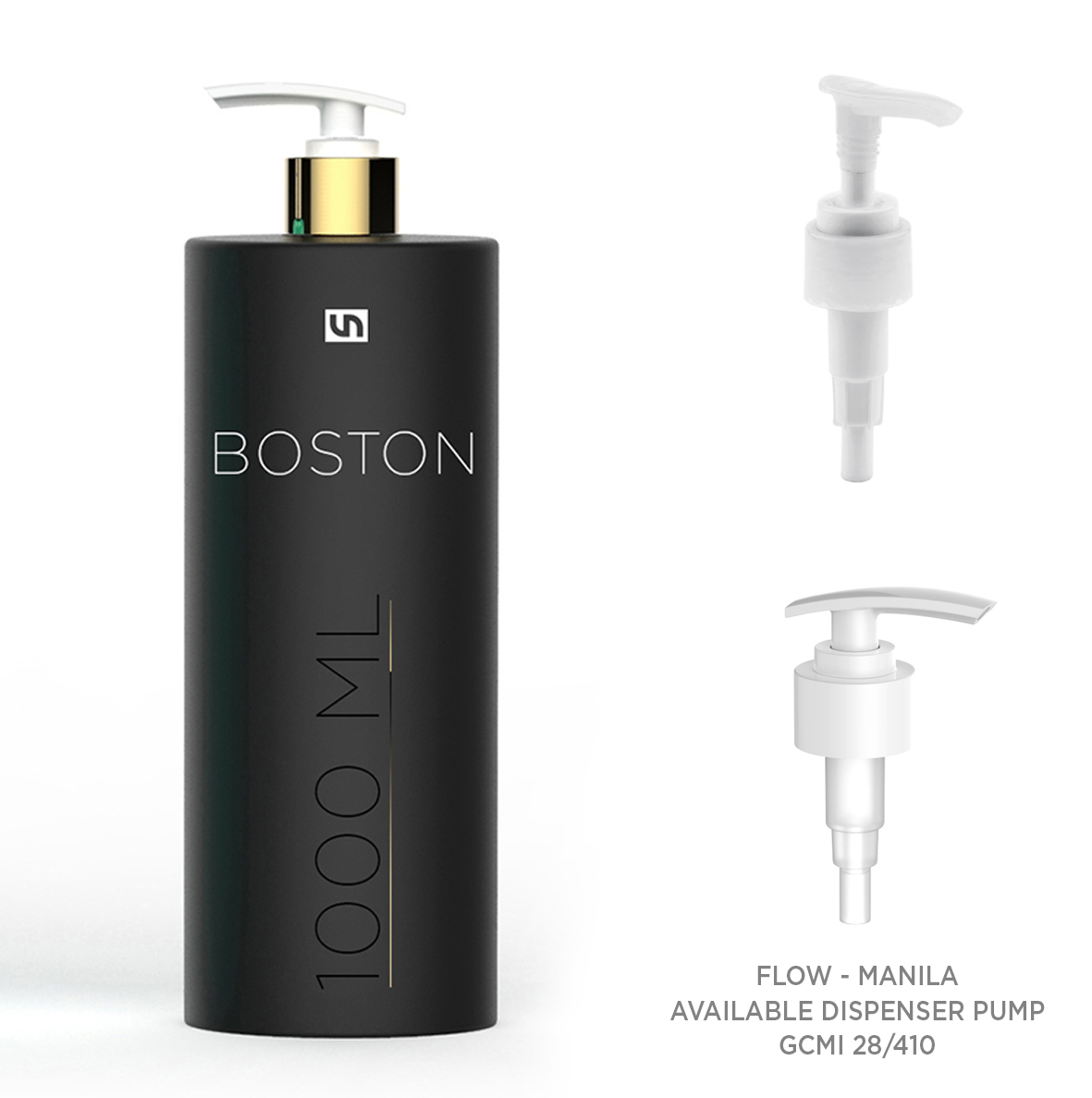 BOSTON 1000 ml 1 liter plastic bottles pump vetronaviglio